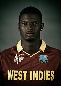 West Indies captain Jason Holder poses during the West Indies 2015 ICC Cricket World Cup Headshots Session at the Intercontinental on February 8 2015...