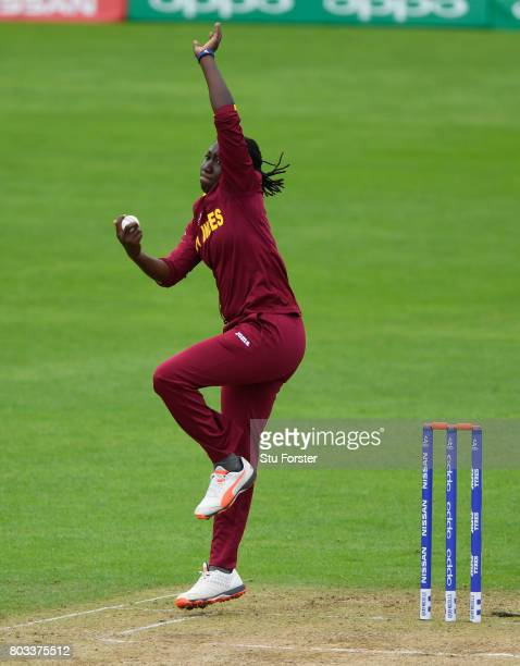 West Indies captain Stafanie Taylor in action during the ICC Women's World Cup 2017 match between West Indies and India at The County Ground on June...