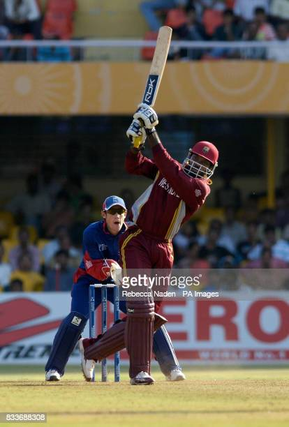West Indies' Chris Gayle in action during the ICC Champions Trophy match at the Sardar Patel Stadium Ahmedabad India