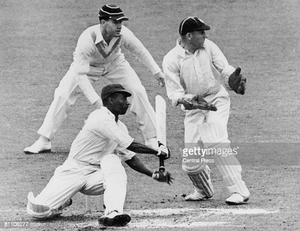 West Indies cricketer George Headley batting against Surrey at The Oval London 1939