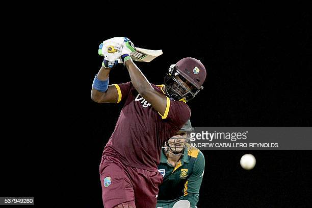 West Indie's Darren Bravo plays a shot during a Oneday International cricket match between the West Indies and South Africa in the TriNation Series...