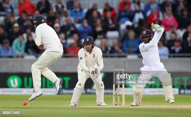 West Indies Jermaine Blackwood during day three of the First Investec Test match at Edgbaston Birmingham