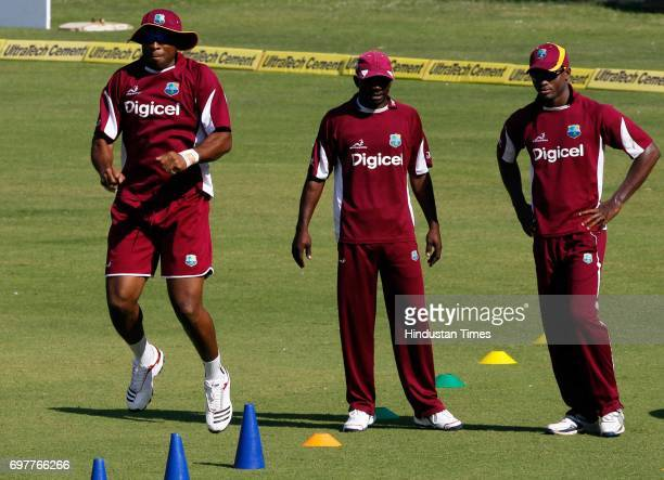 West Indies practices at 3rd One day match of Airtel ODI series held at Sardar Patel Gujarat Stadium on Sunday in Ahmedabad