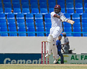 West Indies Rajendra Chandrika bats during day four of the 1st test cricket match between West Indies and India on July 24 2016 at the Sir Vivian...
