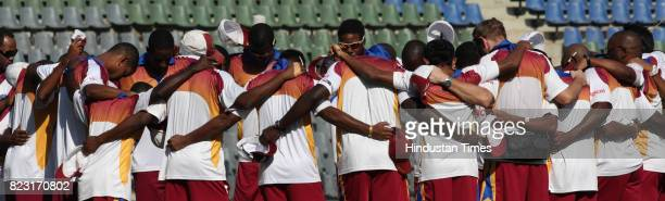 West Indies Team practice's at Wankhede Stadium in Mumbai on Sunday