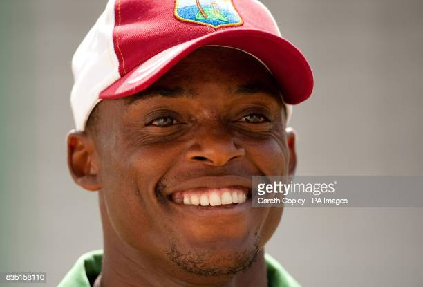 West Indies's Daren Powell during a nets session at St Marys Sports Ground Port of Spain Trinidad
