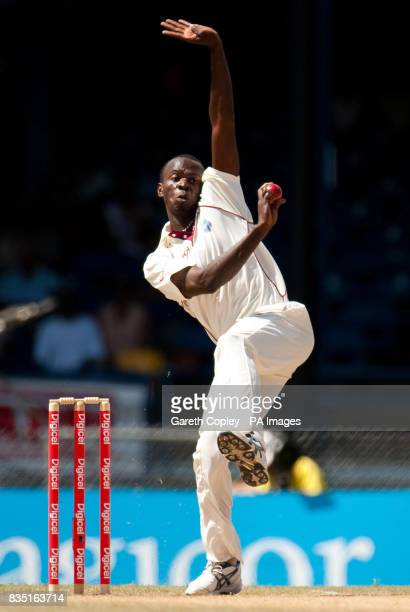 West Indies's Lionel Baker during the fifth test at Queen's Park Oval Port of Spain Trinidad
