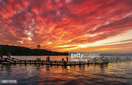 west lake dusk