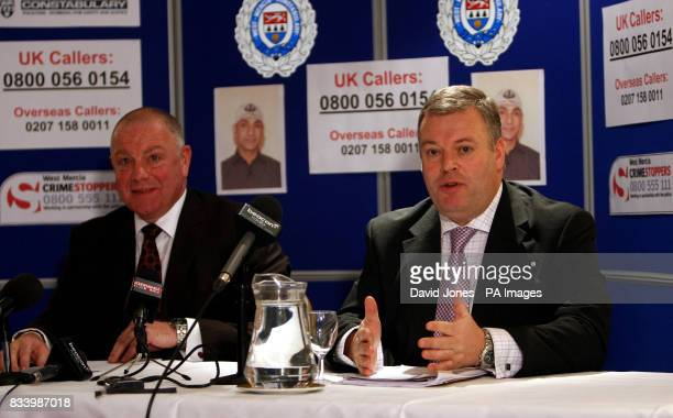 West Mercia police officers Detective Chief Inspector Jon Collier and Detective Chief Superintendent Trevor Allbutt answer questions about a double...