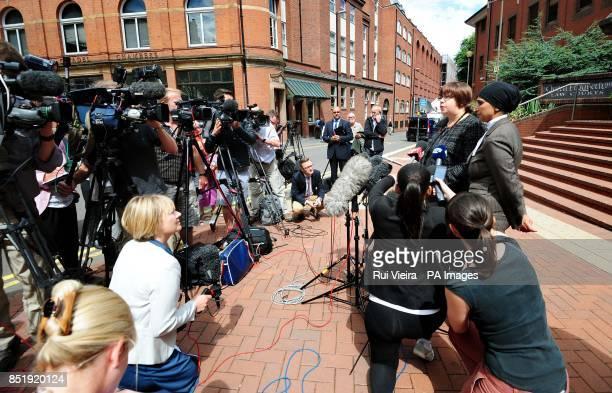 West Midlands CPS Lisa Windridge and Crown Advocate Aliya Rashid speak to the media outside Birmingham Crown Court after the sentencing of Magdelena...