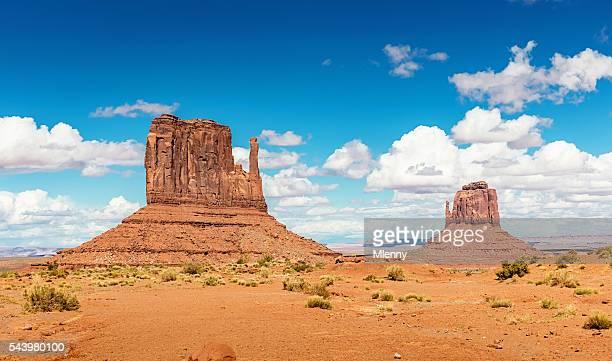Oeste Mitene e Merrick Butte Monumento vale Arizona