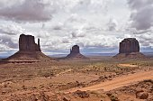 West Mitten Butte East Mitten Butte and Merrick Butte in Monument Valley Navajo Tribal Park Utah are seen on May 16 2015 AFP PHOTO/MLADEN ANTONOV