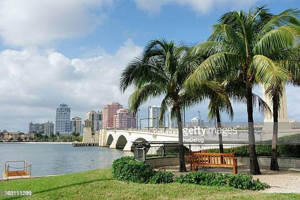 West Palm Beach cityscape viewed across Intracoastal Waterway