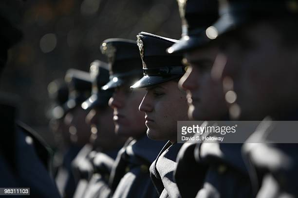 West Point cadets enter the stadium at the 110th Annual Army Navy Game on December 12 2009 in Philadelphia Pennsylvania