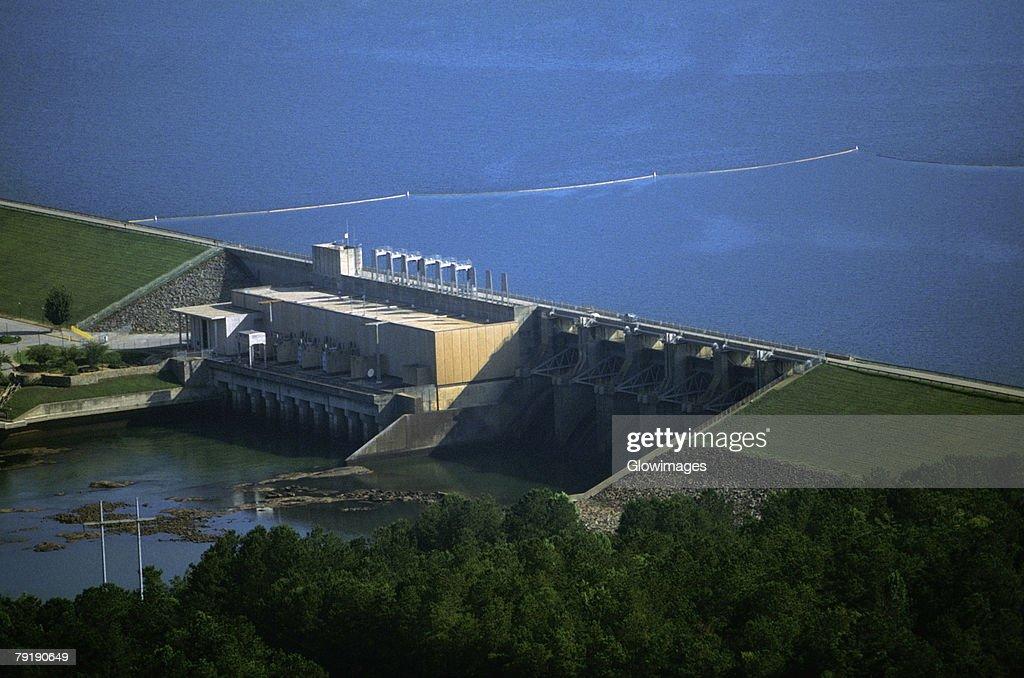 West Point hydroelectric dam, Georgia, USA : Foto de stock