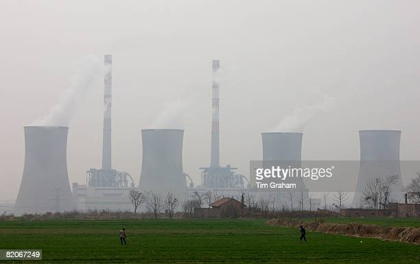 West Power Station burning coal to make electricity Xian China