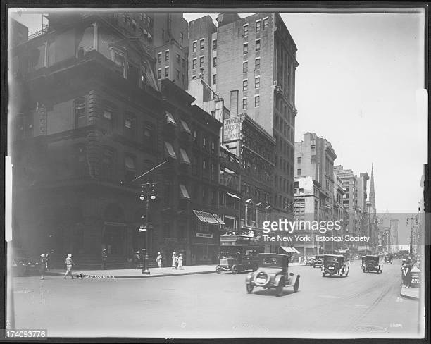 West side of Fifth Avenue looking north from and including 44th Street New York New York 1924