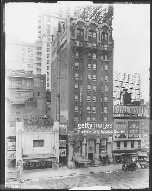 West side of Seventh Avenue between 41st Street and 42nd Street showing the Hotel Hermitage and the Stanley Theatre New York New York mid 1910s