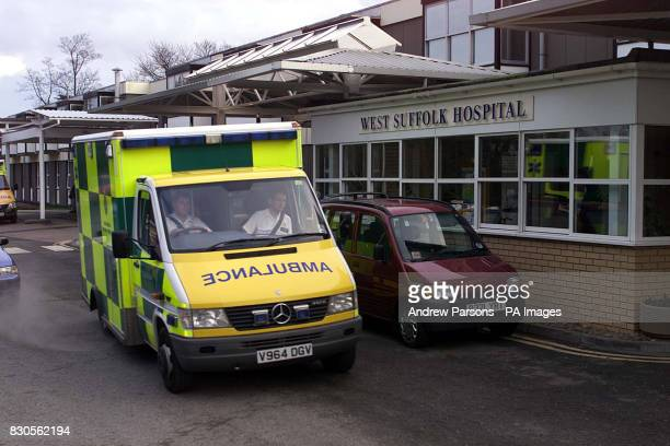 West Suffolk Hospital In Bury St Edmunds where moors murderer Myra Hindley was undergoing surgery after being transferred from Highpoint Prison near...