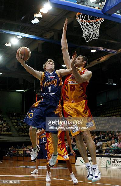 West Sydney Razorbacks' player Rhys Carter in action against the Melbourne Tigers at the Sydney Olympic Park Sports Centre at Homebush 2 December...