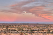 Sunset in the Desert of West Texas USA