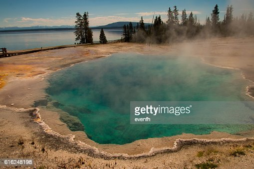 West Thumb Geyser Basin, Yellowstone National Park : Foto stock