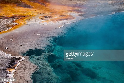 West Thumb Geyser Basin, Yellowstone National Park : Stock Photo