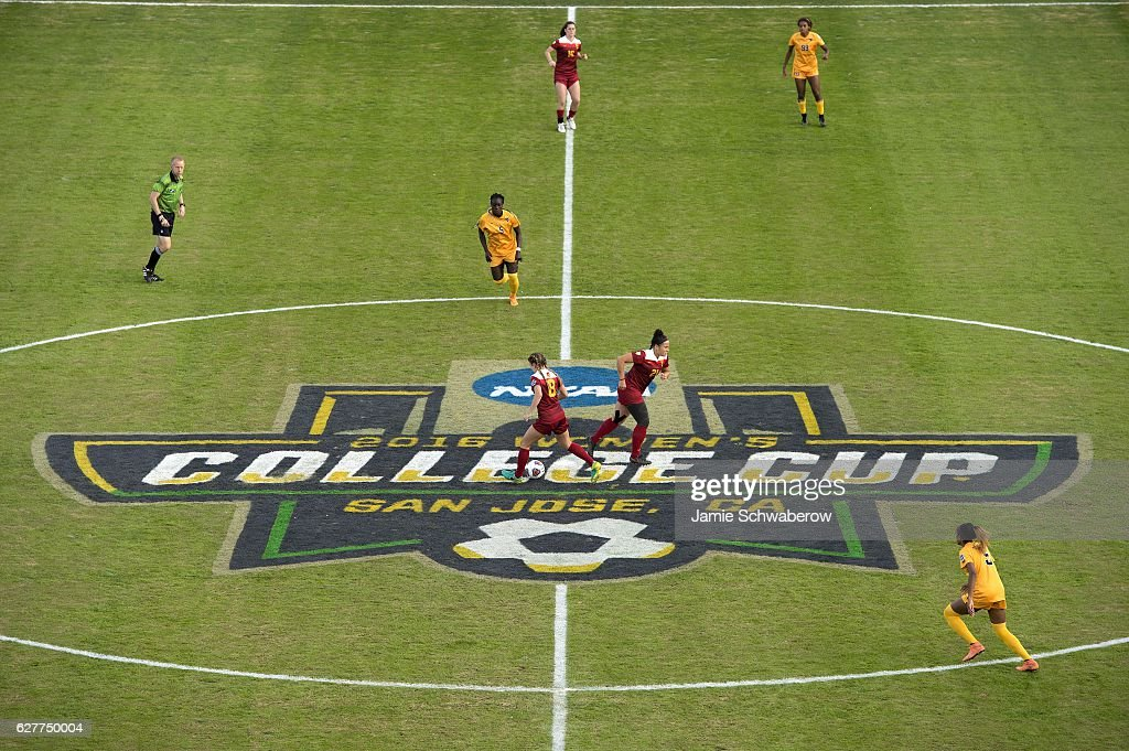 West Virginia University takes on the University of Southern California during the Division I Women's Soccer Championship held at Avaya Stadium on December 04, 2016 in San Jose, California. USC defeated West Virginia 3-1 for the national title.