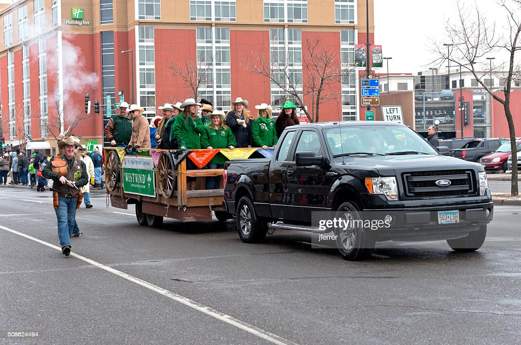 West Wind Motorcade in Winter Carnival : Stock Photo