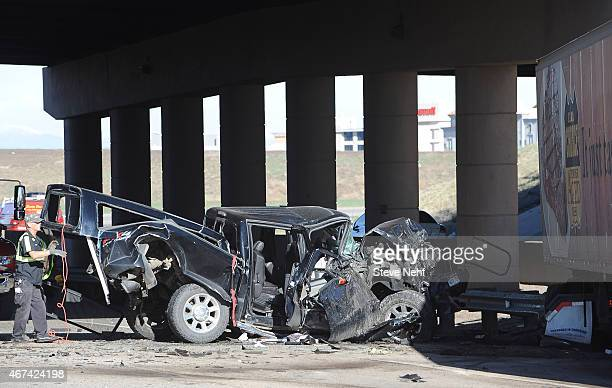 I70 westbound closed at Tower Road after crash involving two semitrailers and a pickup truck at Airport Blvd Tuesday morning The pickup was...