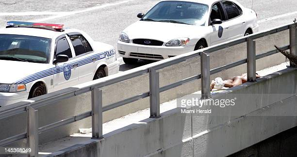 Westbound traffic on the MacArthur Causeway approaching the Northeast 13th Street ramp was backed up Saturday May 26 due to one man being shot to...
