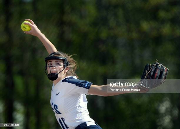 Westbrook's Angelica Johns pitches against Cheverus Friday May 19 2017