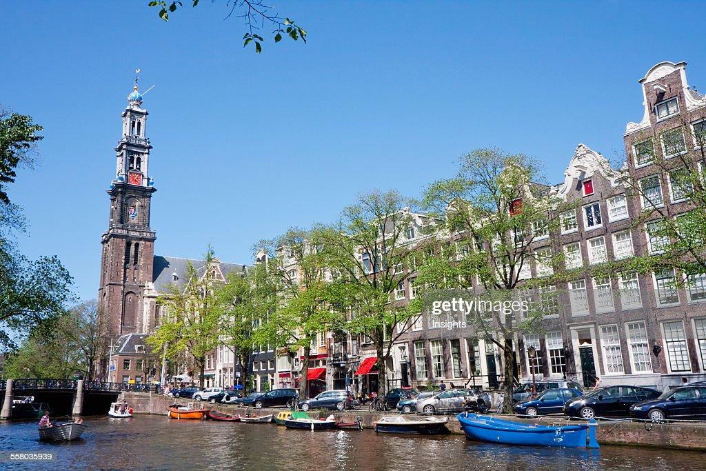 Westerkerk And Prinsengracht Amsterdam Netherlands