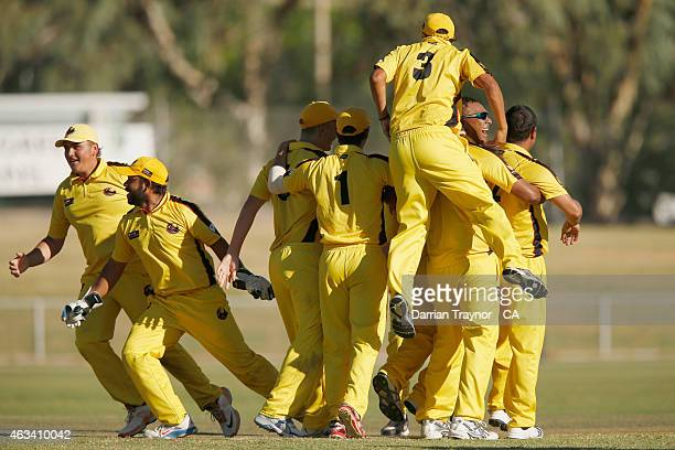 Western Australia celebrate winning the 2015 Imparja Cup on February 14 2015 in Alice Springs Australia