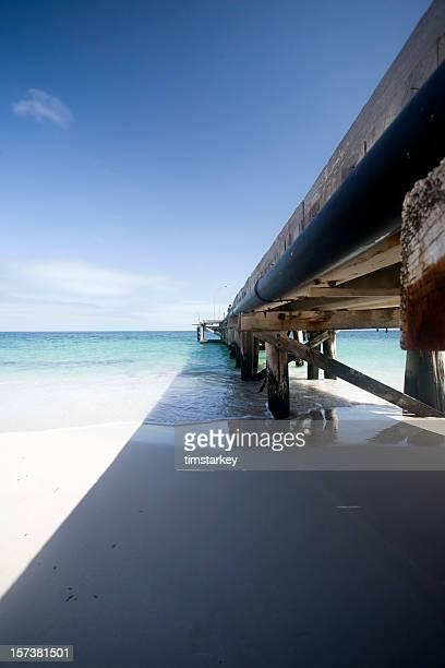 Western Australia - jetty on clear beach
