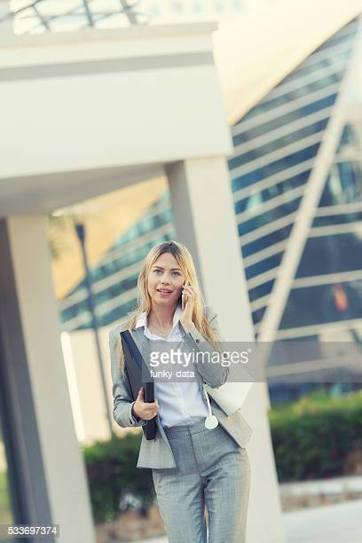 Western businesswoman in Dubai