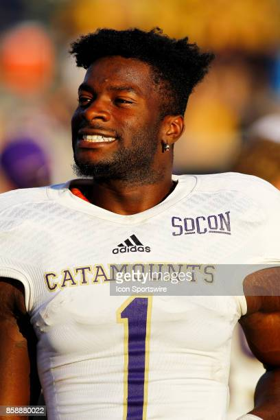 Western Carolina Catamounts wide receiver Steffon Hill is all smiles prior to game time The Western Carolina Catamounts defeated the Chattanooga Mocs...
