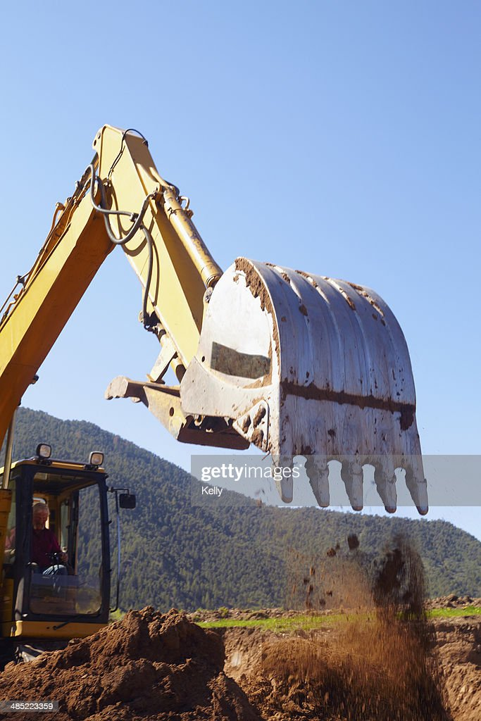 USA, Western Colorado, Construction worker working on construction site