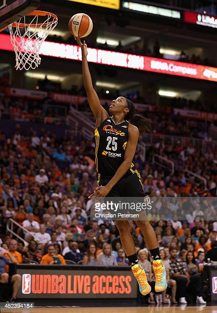 Western Conference AllStar Glory Johnson of the Tulsa Shock lays up a shot during the WNBA AllStar Game at US Airways Center on July 19 2014 in...