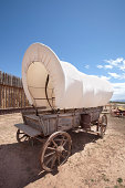 Western Covered Wagon at a Fort in Utah
