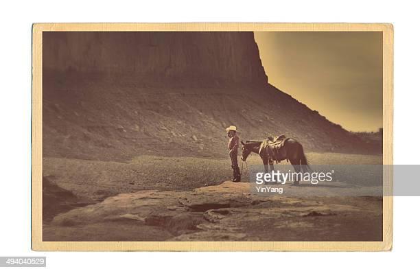 Western Cowboy-Retro Postkarte