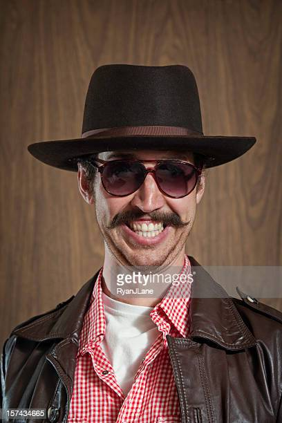 Western Cowboy with Mustache