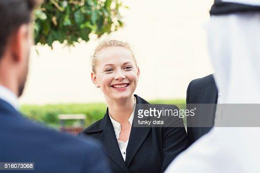 Western expat woman in Dubai