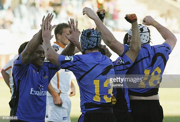 Western Force celebrate their first win during the Super 14 match between Cheetahs and Western Force at Absa Park on May 6 2006 in Kimberley South...