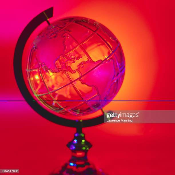 Western Hemisphere on Crystal Globe