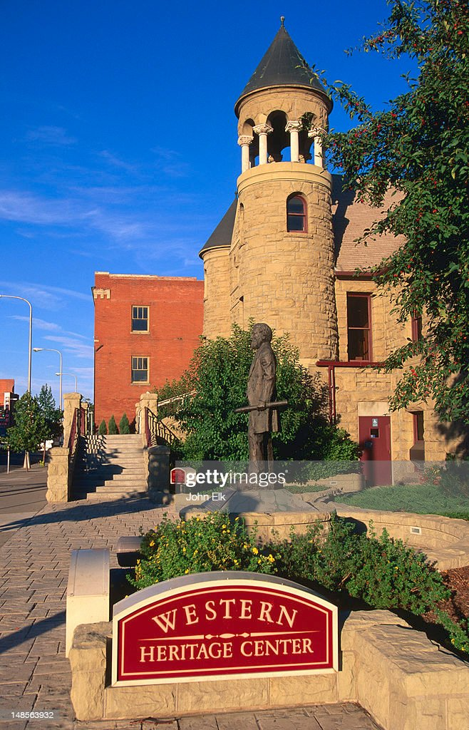 Western Historic Center, old Parmly Billings Library building. : Stock Photo