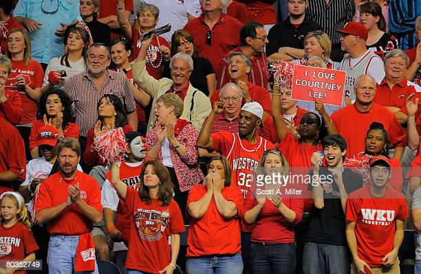 Western Kentucky Hilltoppers fans cheer late in the game against the San Diego Toreros in the second round of the 2008 NCAA Tournament West Regional...