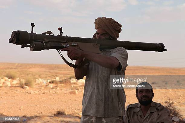 Western Libya rebels prepare to fire a surfacetoair Russianmade SAMSET missile that they looted from an arms depot earlier from the Jebel Nefoussa...