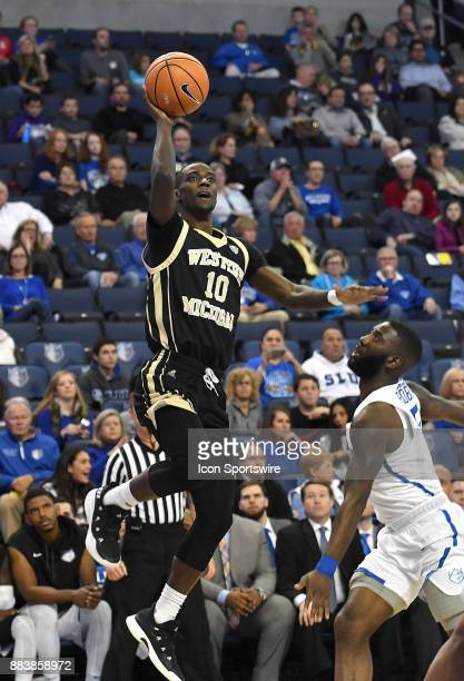 Western Michigan guard Thomas Wilder goes up for a shot in the first half during a nonconference basketball game between the Western Michigan Broncos...