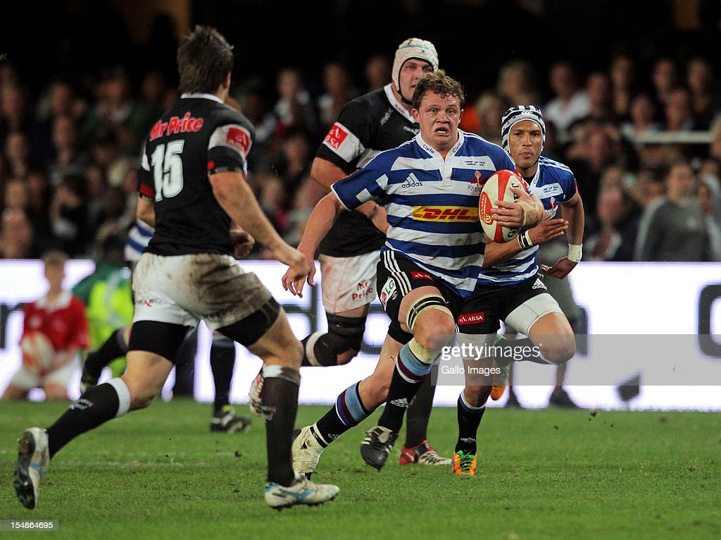 Western Province flank Deon Fourie in action during the Absa Currie Cup final match between The Sharks and DHL Western Province from Mr Price KINGS PARK on October 27, 2012 in Durban, South Africa.